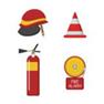 ícones-ajustados-da-proteção-contra-incêndios-do-sapador-bombeiro-do-vetor-80504572 copy