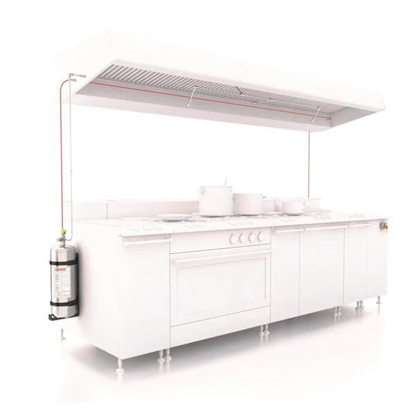 Μόνιμα συστήματα κατάσβεσης Wet Chemical για κουζίνες - Mpazigos.gr